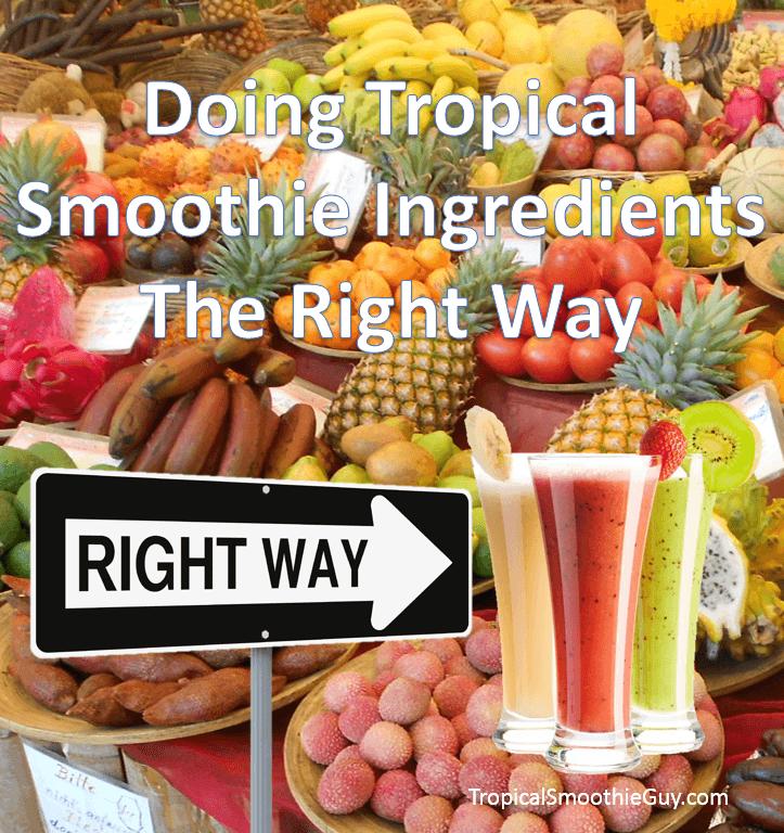 Tropical Smoothie Ingredients-Instagram