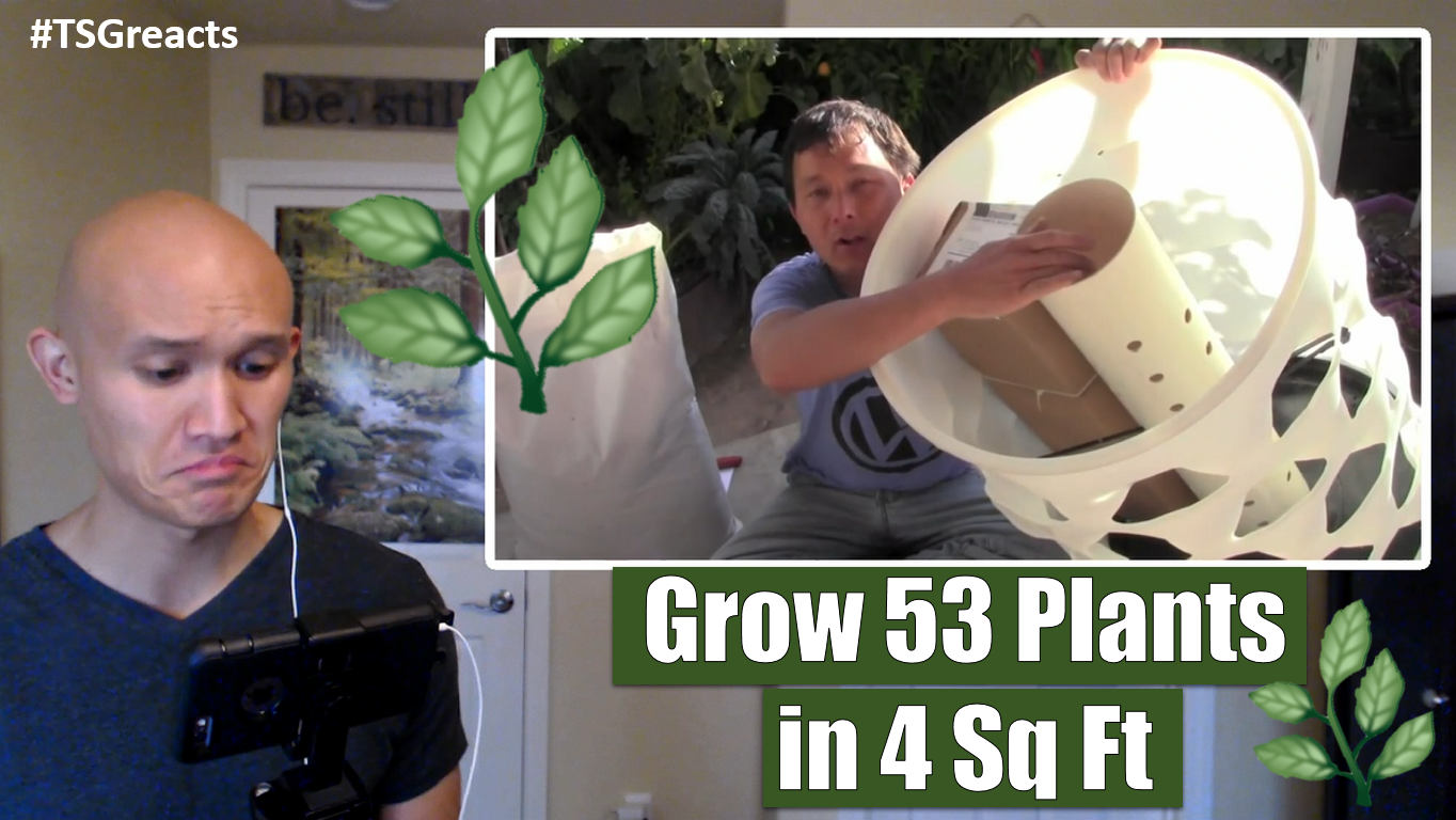 Grow 53 Plants in 4 Sq Ft with a Garden Tower Vertical Container Garden || Reaction Video